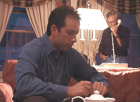 Jerry Seinfeld and George Shapiro in Comedian (2002)