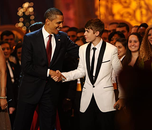 Barack Obama and Justin Bieber