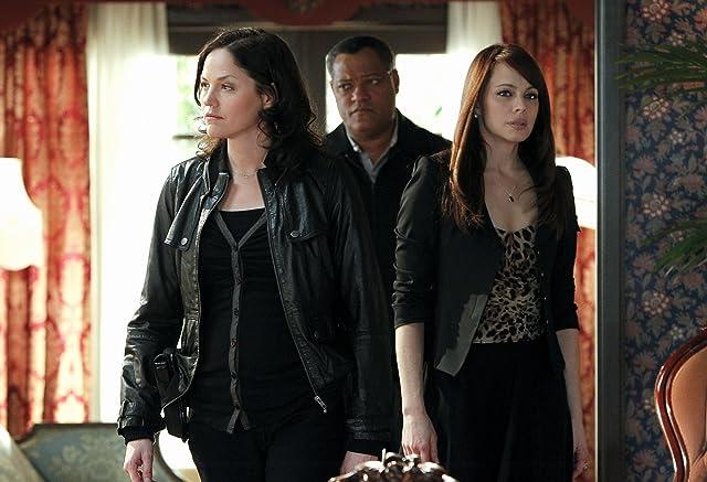 Laurence Fishburne, Melinda Clarke, and Jorja Fox in CSI: Crime Scene Investigation (2000)