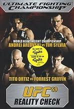 UFC 59: Reality Check
