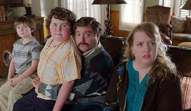 Zach Galifianakis, Sarah Baker, Kya Haywood, and Grant Goodman in The Campaign (2012)