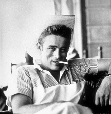 James Dean on location for