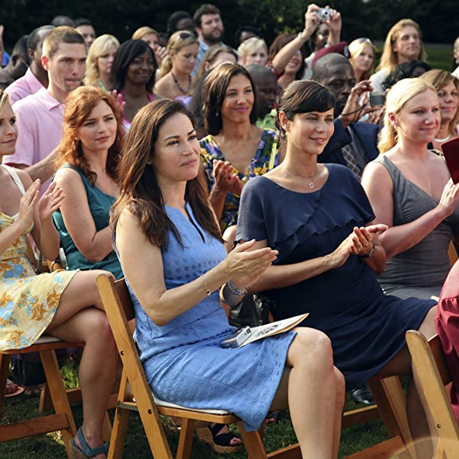 Kim Delaney, Catherine Bell, Wendy Davis, Brigid Brannagh, and Sally Pressman in Army Wives (2007)