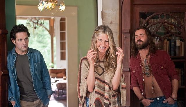 Jennifer Aniston, Paul Rudd, and Justin Theroux in Wanderlust (2012)