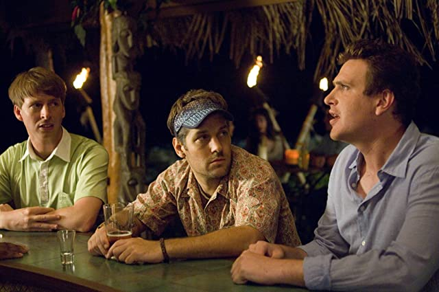 Paul Rudd, Jason Segel, and Jack McBrayer in Forgetting Sarah Marshall (2008)