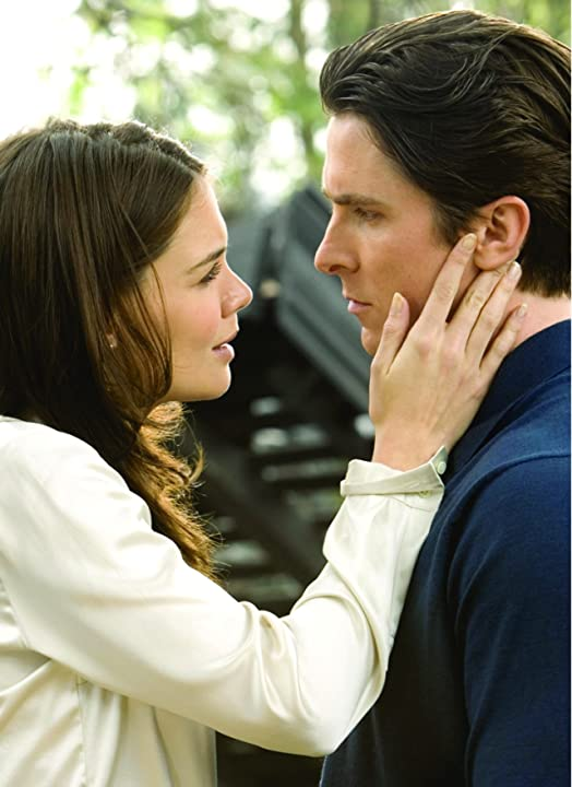 Christian Bale and Katie Holmes in Batman Begins (2005)