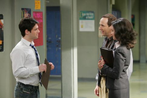 Justin Bartha and Kali Rocha in Teachers. (2006)