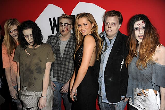 Teresa Palmer and zombies arrive for the Los Angeles premiere of Summit Entertainment's