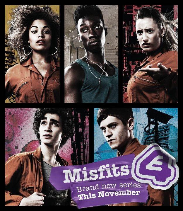 Robert Sheehan, Lauren Socha, Nathan Stewart-Jarrett, Antonia Thomas, and Iwan Rheon in Misfits (2009)
