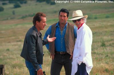 James Woods and Danny Baldwin with director John Carpenter
