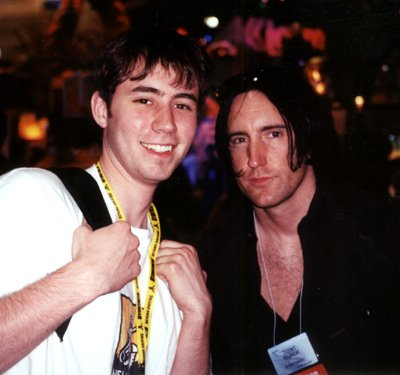 Tom Fulp with Trent Reznor at the unveiling of Doom 3.