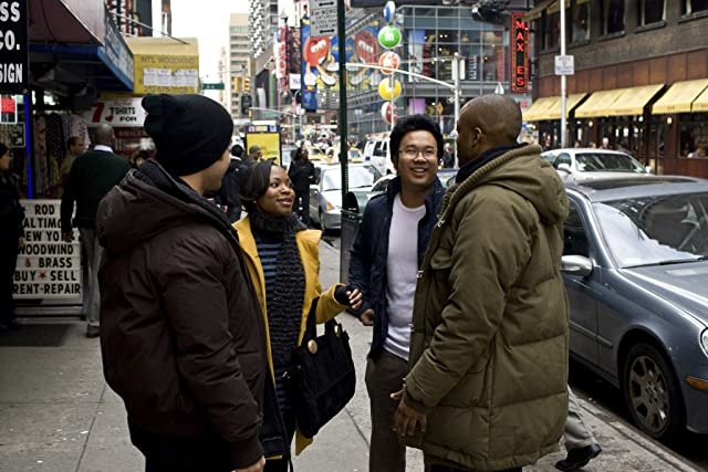 Kevin Tancharoen, Naturi Naughton, Walter Perez, and Collins Pennie in Fame (2009)