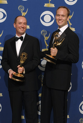 Christopher Markus and Stephen McFeely at The 57th Annual Primetime Emmy Awards (2005)