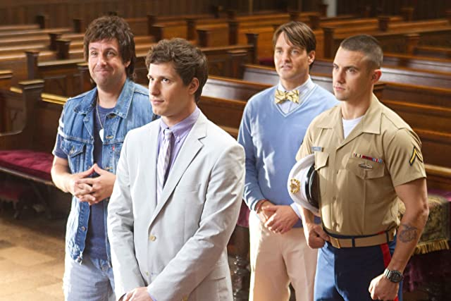 Adam Sandler, Will Forte, Milo Ventimiglia, and Andy Samberg in That's My Boy (2012)
