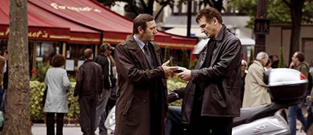 Liam Neeson and Olivier Rabourdin in Taken (2008)