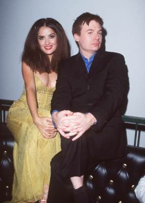 Salma Hayek and Mike Myers at an event for 54 (1998)