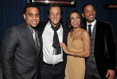 Will Smith, Rosario Dawson, Gabriele Muccino, and Michael Ealy at Seven Pounds (2008)