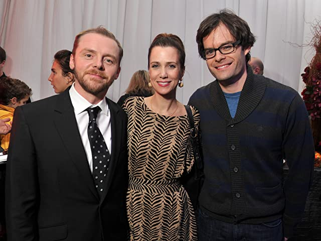 Bill Hader, Simon Pegg, and Kristen Wiig at Mission: Impossible - Ghost Protocol (2011)