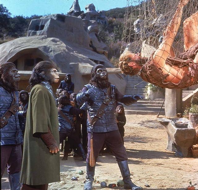 Charlton Heston, Kim Hunter, and Buck Kartalian in Planet of the Apes (1968)
