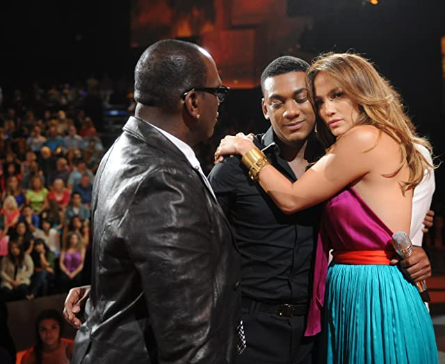Jennifer Lopez, Randy Jackson, and Joshua Ledet in American Idol (2002)