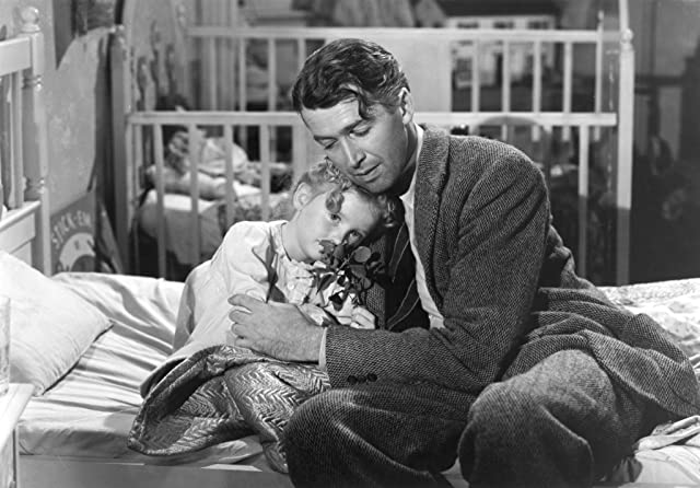 James Stewart and Karolyn Grimes in It's a Wonderful Life (1946)