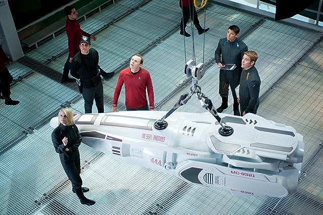 Simon Pegg, Karl Urban, Alice Eve, and Chris Pine in Star Trek Into Darkness (2013)