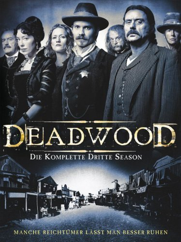 Brad Dourif, Powers Boothe, Paula Malcomson, Ian McShane, Timothy Olyphant, Molly Parker, and Robin Weigert in Deadwood (2004)
