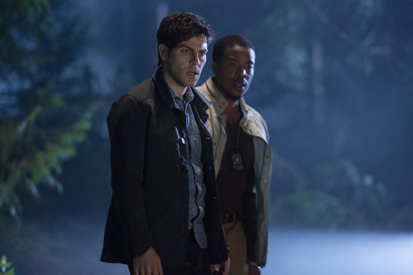 Russell Hornsby and David Giuntoli in Grimm (2011)