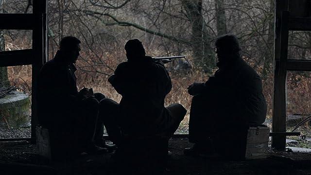 Matt Harper (Steve Talley)and Ronnie Bullock (Eric Roberts) with Possum (Clay Brocker) in a pivotal scene in Deadline.