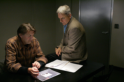 Peter Coyote and Mark Harmon in NCIS (2003)