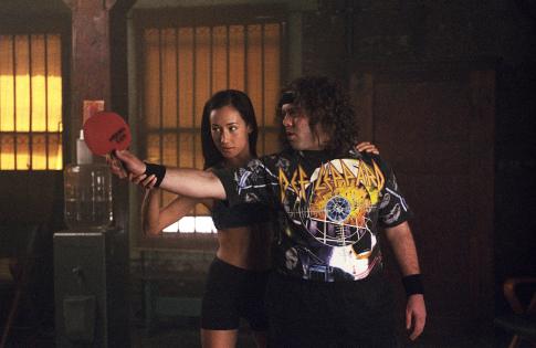 Dan Fogler and Maggie Q in Balls of Fury (2007)