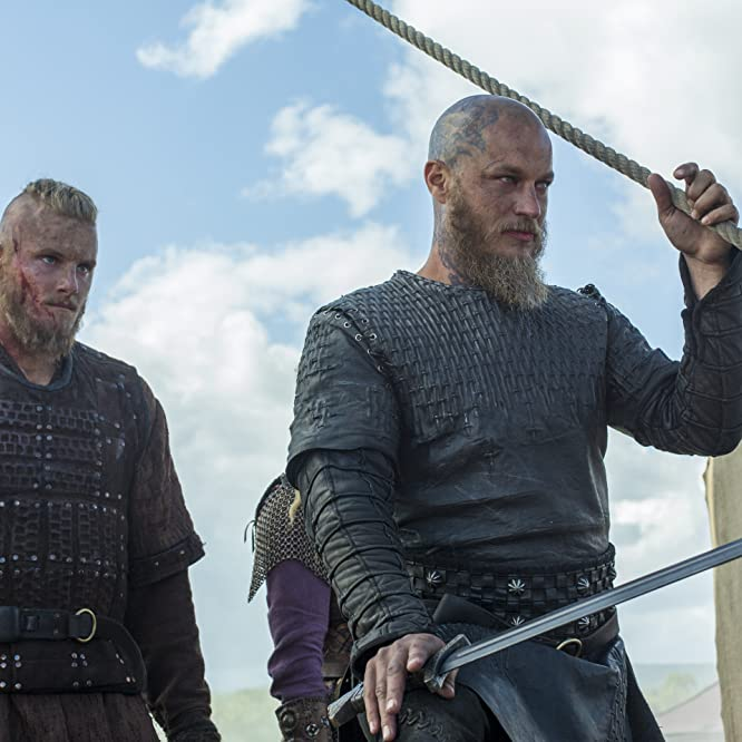 Travis Fimmel and Alexander Ludwig in Vikings (2013)