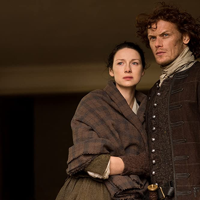 Sam Heughan and Caitriona Balfe in Outlander (2014)