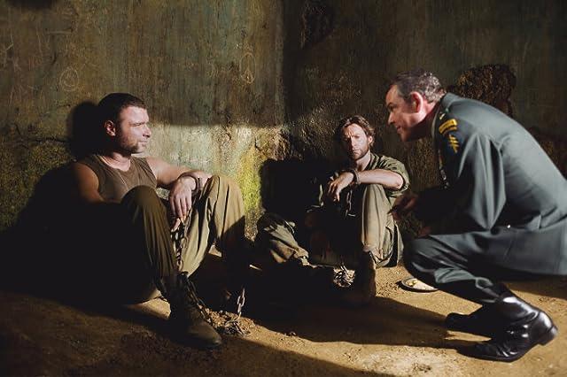 Liev Schreiber, Danny Huston, and Hugh Jackman in X-Men Origins: Wolverine (2009)