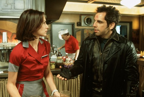 Claire Forlani and Ben Stiller in Mystery Men (1999)