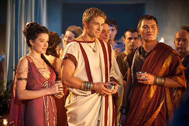 Brett Tucker, Jason Hood, and Hanna Mangan Lawrence in Spartacus: War of the Damned (2010)