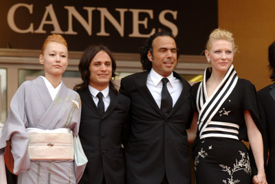 Cate Blanchett, Gael García Bernal, Alejandro G. Iñárritu, and Rinko Kikuchi at an event for Babel (2006)