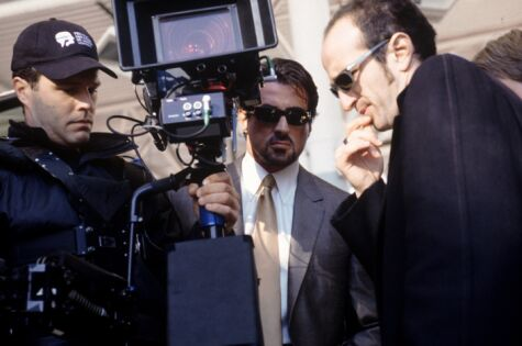 Stallone with director Stephen T. Kay