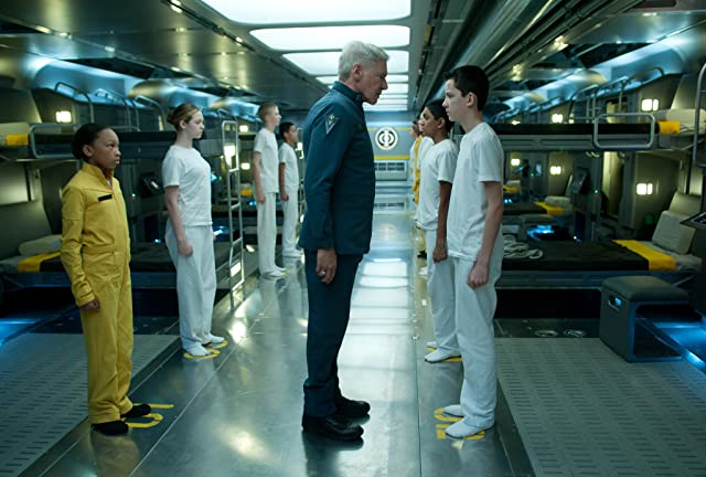 Harrison Ford and Asa Butterfield in Ender's Game (2013)