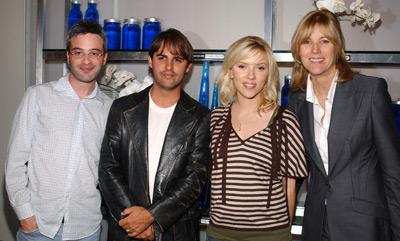 Scarlett Johansson, Alex Kurtzman, Laurie MacDonald, and Roberto Orci at The Island (2005)