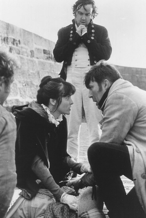 Ciarán Hinds, Richard McCabe, and Amanda Root in Screen Two: Persuasion (1995)