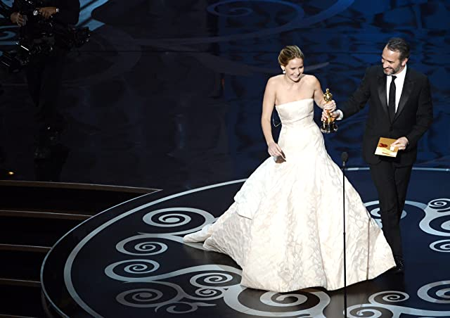 Jean Dujardin and Jennifer Lawrence at The 85th Annual Academy Awards (2013)