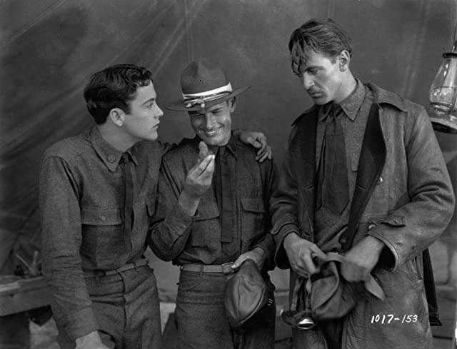 Gary Cooper, Richard Arlen, and Charles 'Buddy' Rogers in Wings (1927)