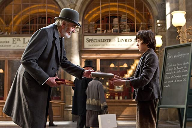Christopher Lee and Asa Butterfield in Hugo (2011)