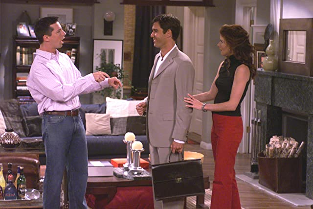 Sean Hayes, Eric McCormack, and Debra Messing in Will & Grace (1998)