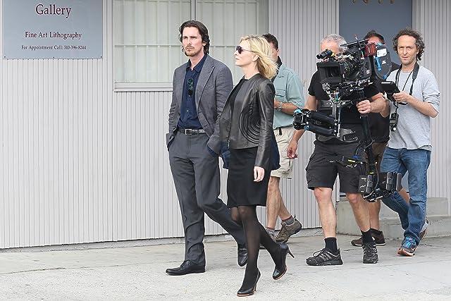 Christian Bale, Cate Blanchett, Jörg Widmer, and Emmanuel Lubezki in Knight of Cups (2015)