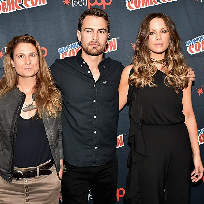 Kate Beckinsale, Anna Foerster, and Theo James
