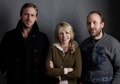 Derek Cianfrance, Ryan Gosling, and Michelle Williams