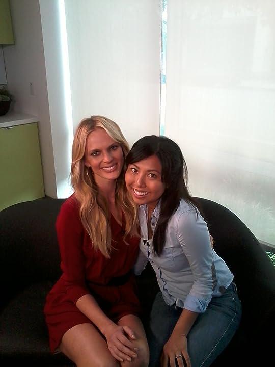 On Set at AOL Studios: Anne Vyalitsyna, Rosie Tran