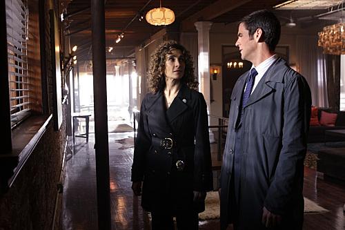 Melina Kanakaredes and Eddie Cahill in CSI: NY (2004)